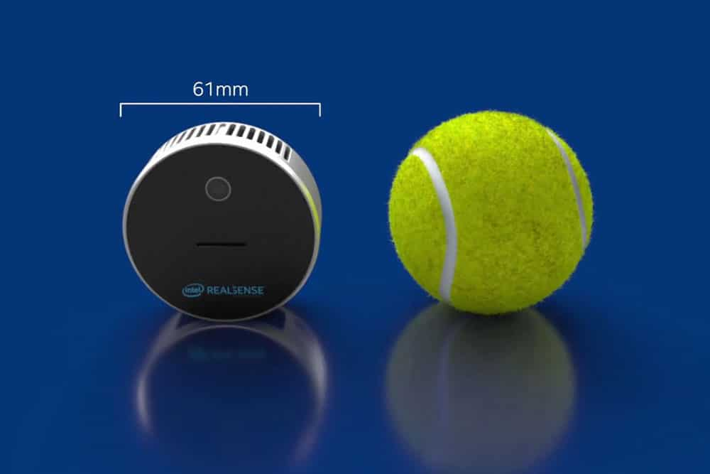 Intel RealSense L515, the world's smallest hi-res LiDAR depth camera.
