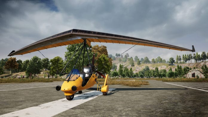 PUBG lets you fly for the first time with its new motorized hang glider