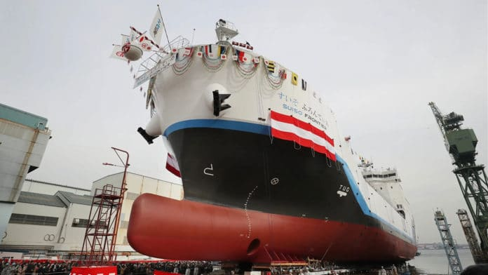 Japan introduces the world's first liquid hydrogen transport vessel