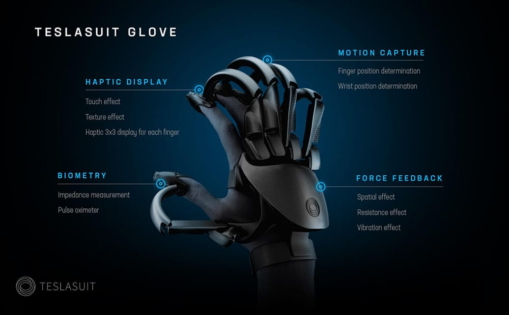 TESLASUIT-GLOVE features