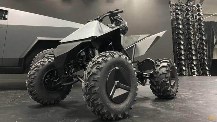 Tesla Cyberquad, the electric all-terrain vehicle (ATV).