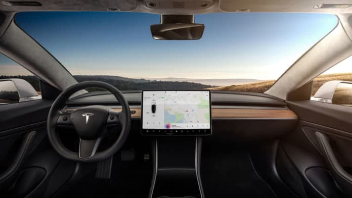 Tesla Model-3 Front panel