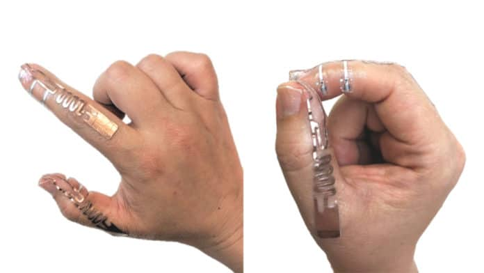 Tip-Tap technology attached to a person's hand. Credit: University of Waterloo