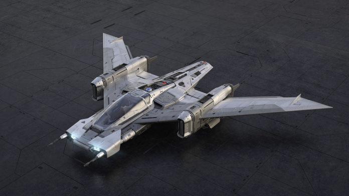 The design of Tri-Wing S-91x Pegasus Starfighter.