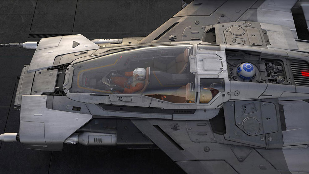 Porsche unveiled its Star Wars-inspired Tri-Wing S-91x Pegasus spacecraft