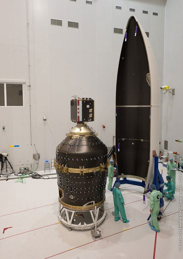 ClearSpace-1 will target the conical upper part of the payload adapter that delivered Proba-V into orbit.