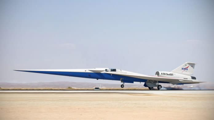 The assembly of NASA's SuperSonic X-59 QueSST aircraft comes to an end