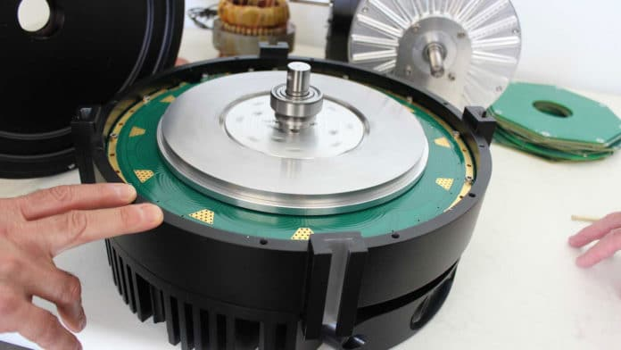 The Infinitum electric motor carries the printed circuit board stator.