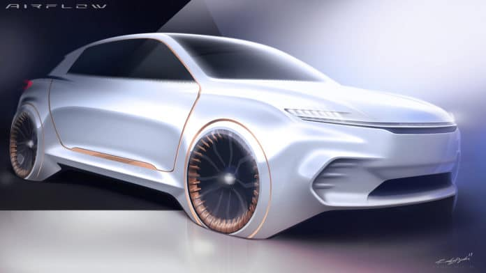 Fiat Chrysler Automobiles will exhibit the Airflow Vision Concept at this year's CES in Las Vegas.