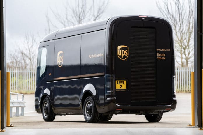 Arrival's electric delivery vans built especially for UPS.