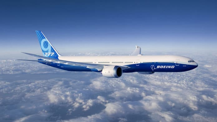 New Boeing 777X, the largest and most fuel efficient twin-engine commercial jet.