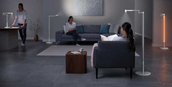 Luxurious and intelligent Dyson Lightcycle Morph lamp can track room light and adjust lighting accordingly.