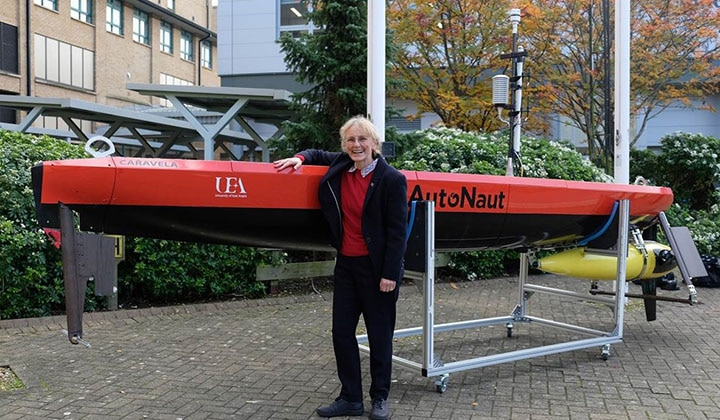 Prof. Karen Heywood with Autonaut