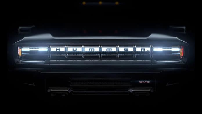 GMC has recently posted a teaser on its website, where it revealed the first image of the Hummer electric truck.