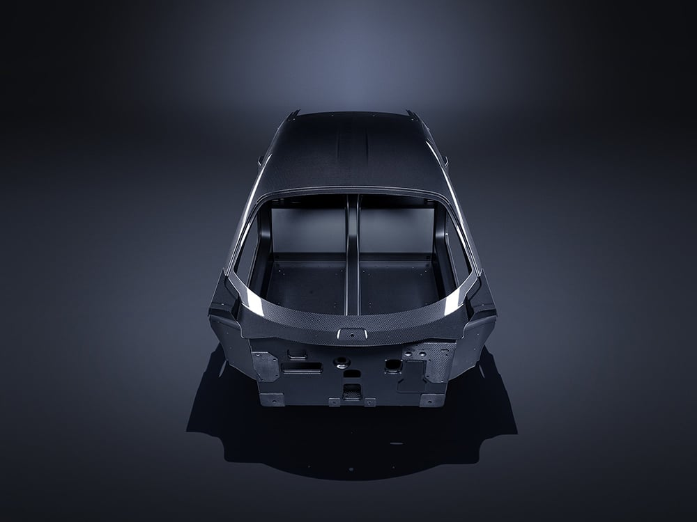 The total weight of the chassis is only 86 kg.