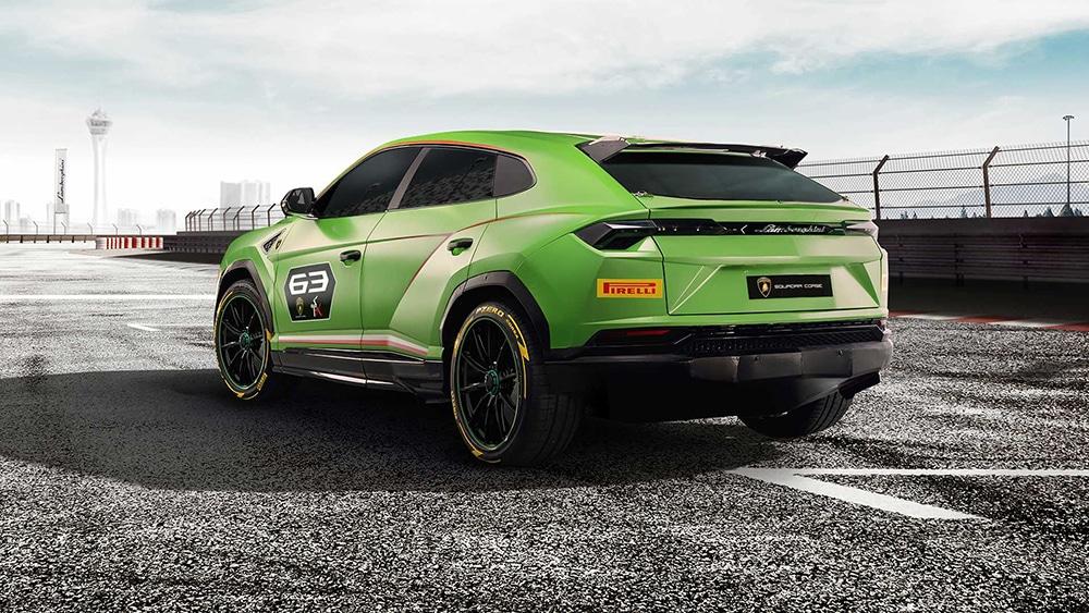 Lamborghini Urus ST-X Rear view.