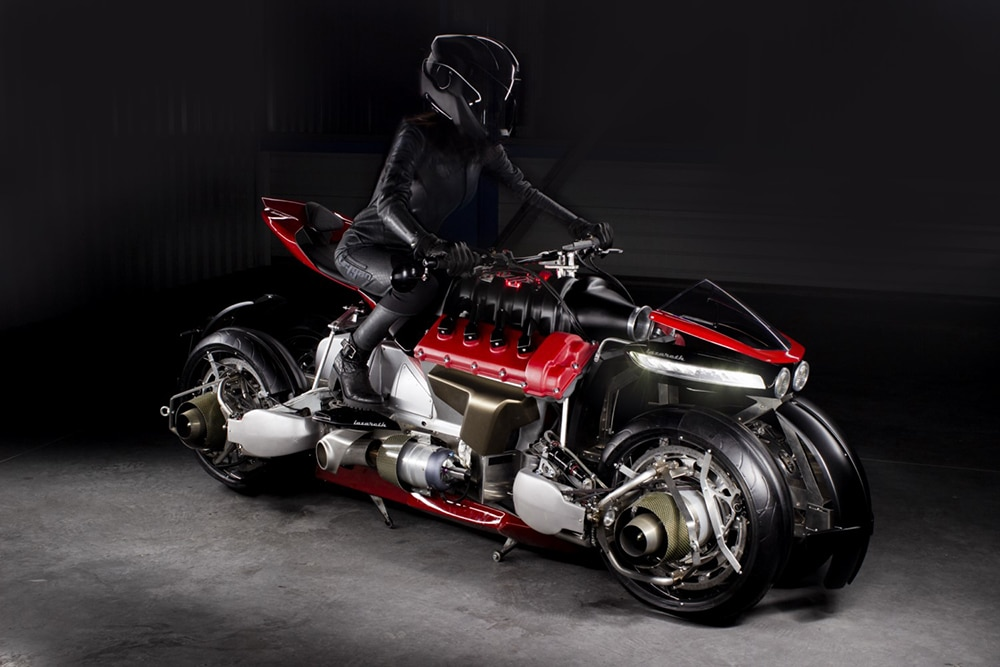 The electric motor in the bike can be run up to 100 km after full charge.