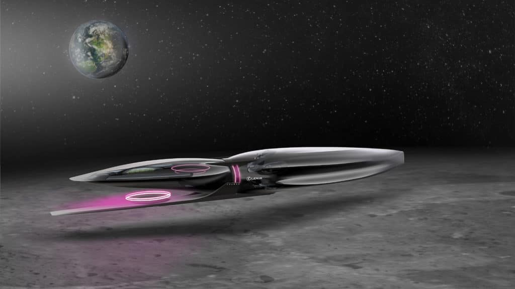 Lexus Cosmo, desigend for both space and the lunar surface.