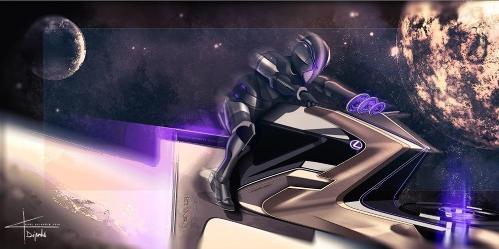 Lexus Zero Gravity is a hoverbike.