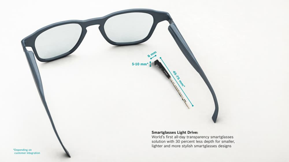 Miniature solution enables stylish Smartglasses design