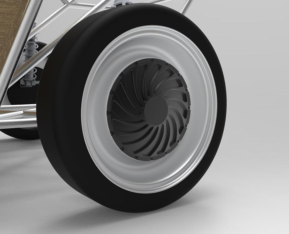 Luca will utilize in-wheel motors.