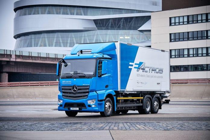 An all-electric Mercedes-Benz eActros
