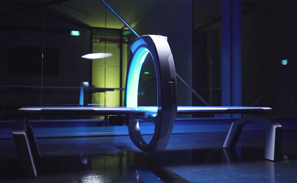 The only moving part is the portal, an x-ray ring that scans the entire body