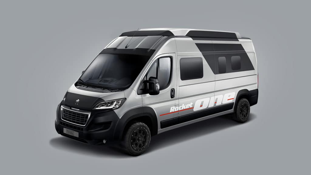 Rocket One has a sporty design and livable space for five members.