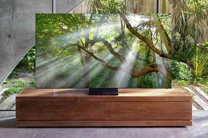 This might be the Samsung's 8K QLED 'bezel-less' TV