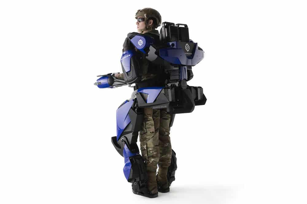 A mobile exoskeleton designed to boost employees' physical capabilities and bolster their safety.