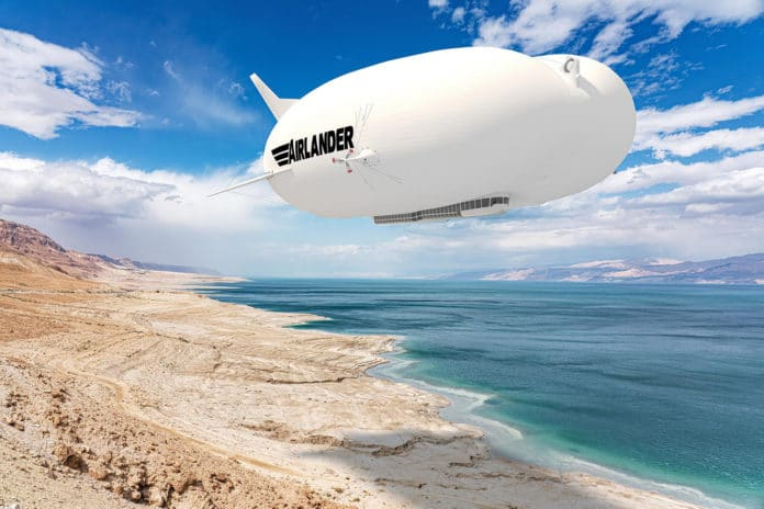 The production Airlander 10 is revealed.