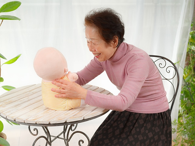 The therapeutic robot aimed at older people.