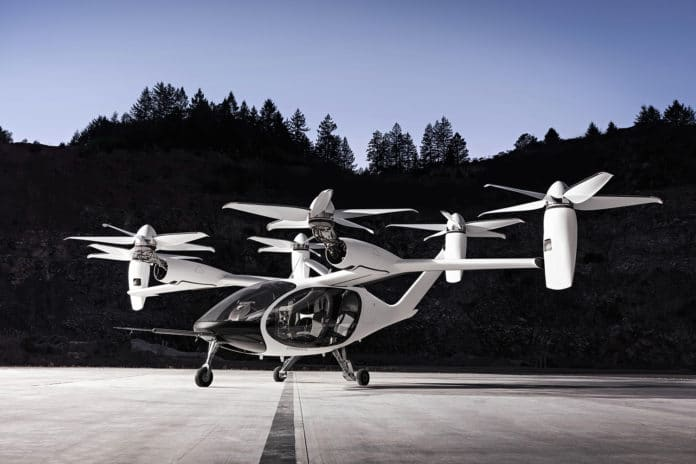 Joby's electric flying taxi.