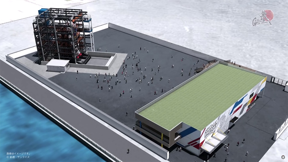 This massive robot will subsequently be installed in the port of Yokohama.