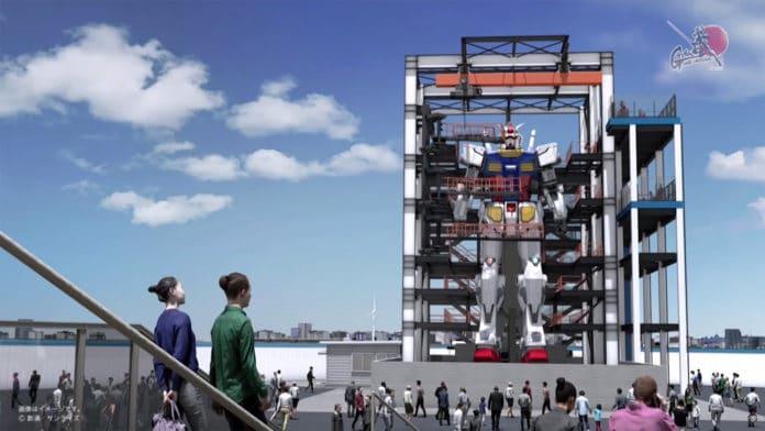 Japan builds an 18-meter-tall life-sized Gundam Robot that walks.
