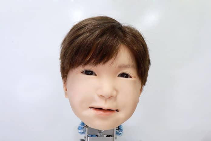 Realistic-looking child android Affetto can 'feel' pain.
