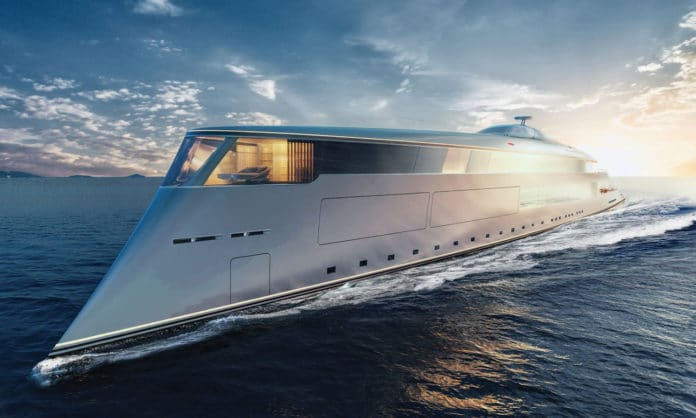 Sinot Aqua, the world's first hydrogen-powered superyacht.