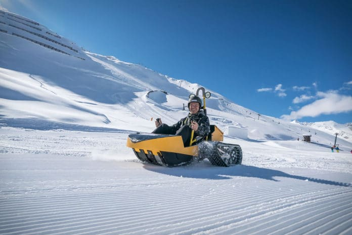Bobsla, the amazing electric tracked snow kart. Credit: Bobsla