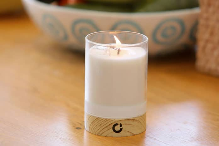 First real-flame candle that is lit remotely by your smartphone.