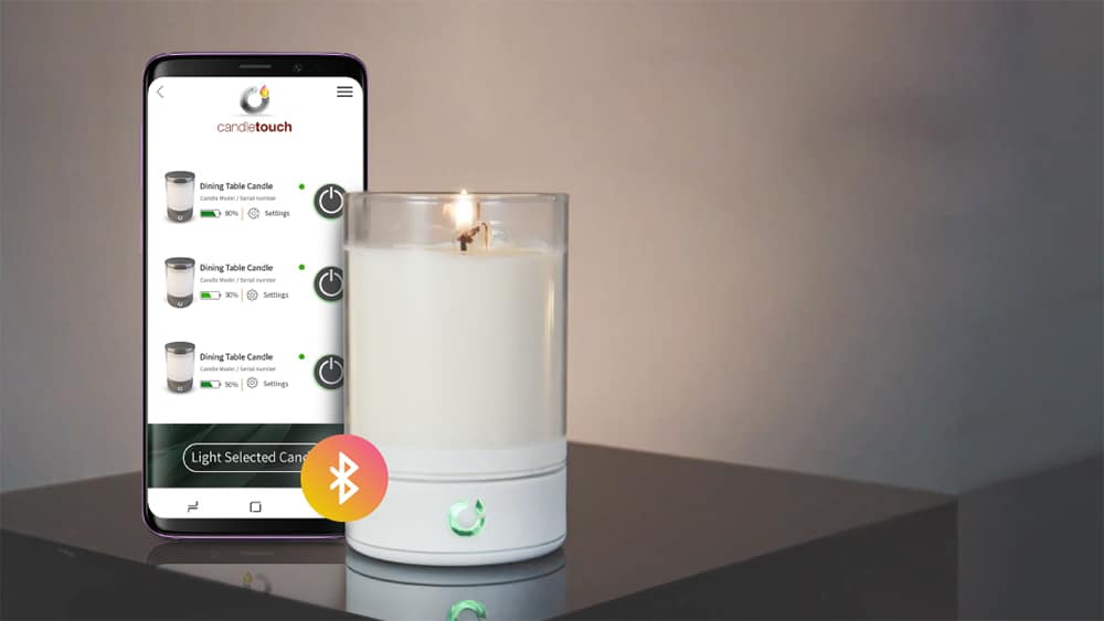 With a single tap on your smartphone, you can now light-up a real scented candle that will ignite magically.