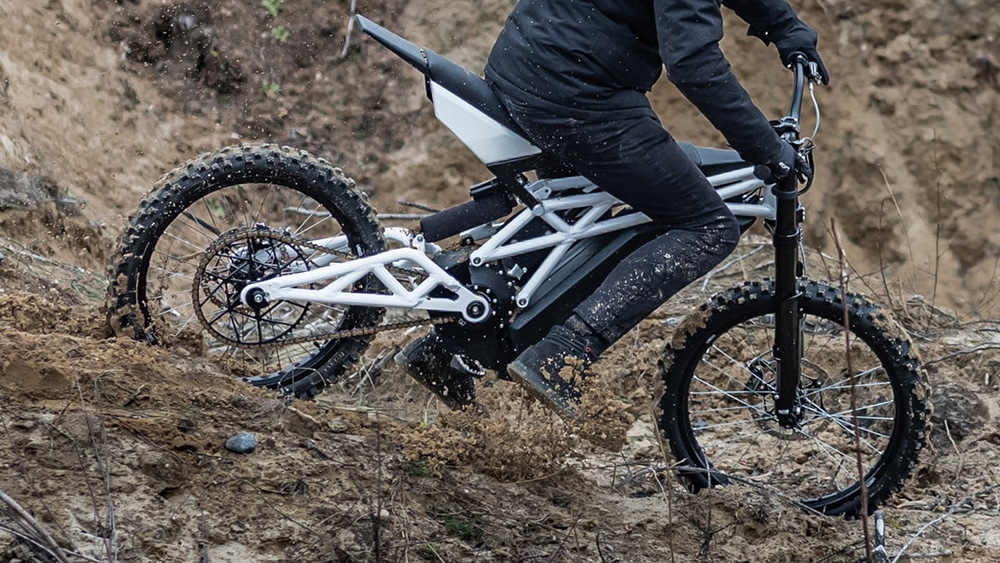 The Bike is built for off-road riding.