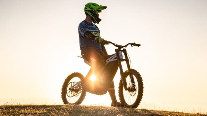 FRX1 all-terrain electric bike loses pedals and becomes full electric motorbike. Credit: UBCO