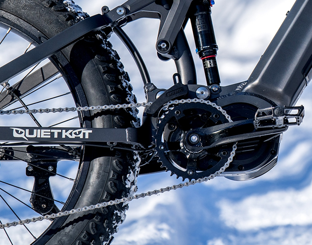 "The 4.8"" fat tires can tackle the most extreme terrain."