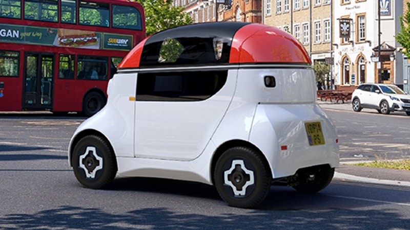 MOTIV is a single-seater 'pod', which provides the versatility of either personal transportation or last-mile deliveries.