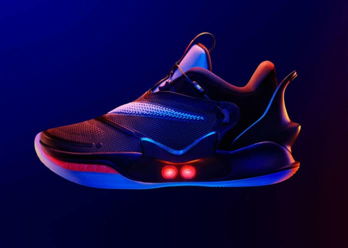 Nike's new self-lacing basketball shoes Adapt BB 2.0.