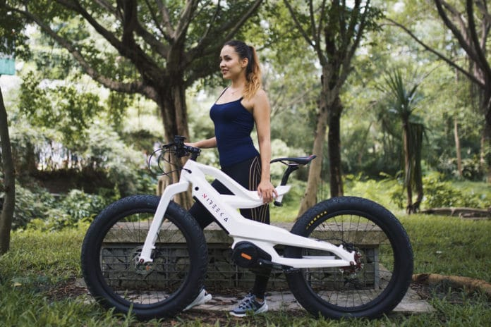 Nireeka Prime, an impressive 1000 kW electric bike with 80 km of autonomy.