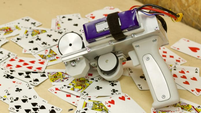A YouTuber creates a gun capable of shooting playing cards at 120mph.