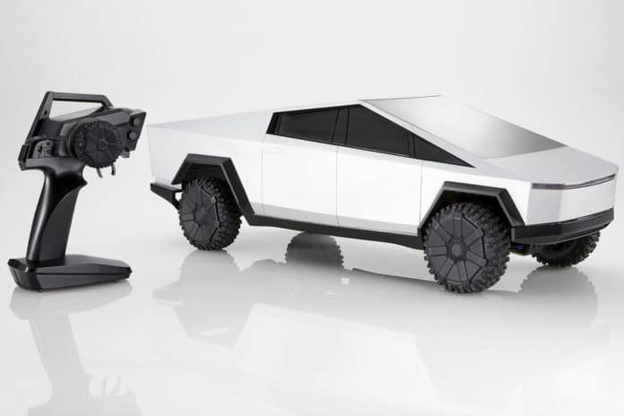 A limited-edition hobby grade 1:10 scale remote-controlled Cybertruck.