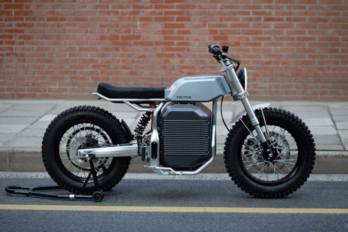 Switch eSCRAMBLER, the electric motorcycle with a retro-futuristic look.