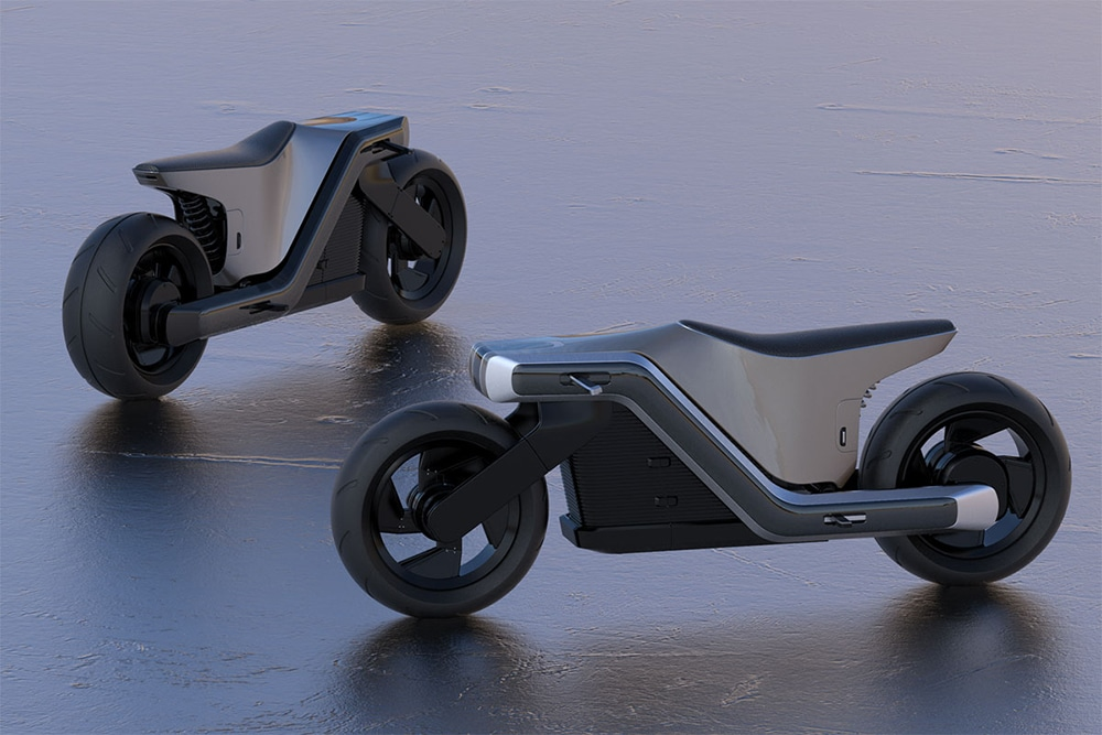 Z Motorcycle electric concept features a sizable battery into the slim package.